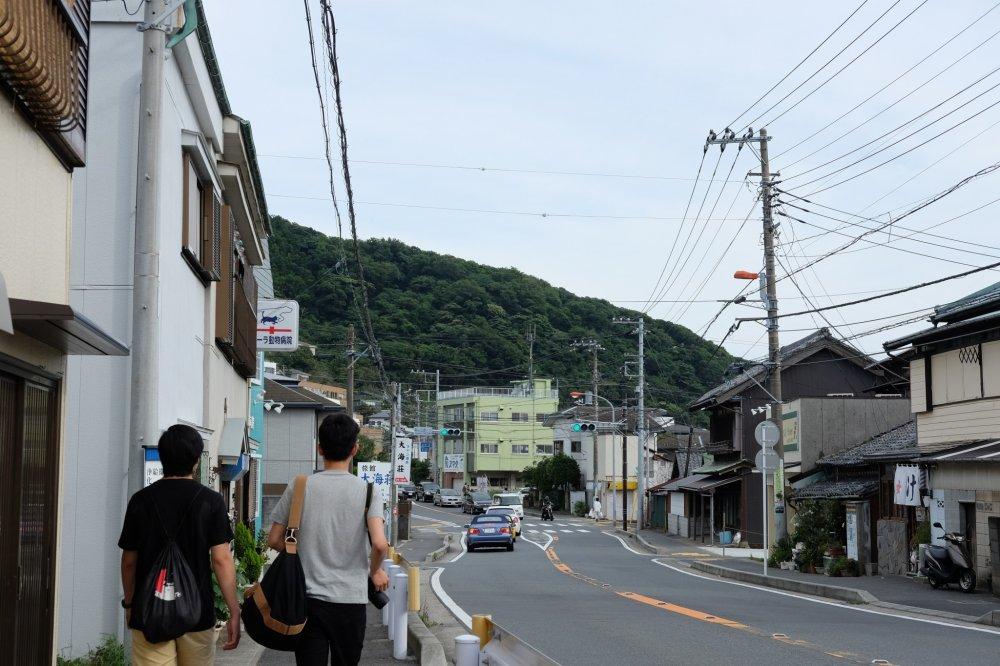 The quaint seaside town of Hayama.
