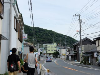 The quaint seaside town of Hayama.