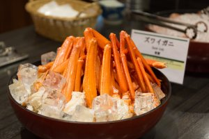 The crab legs are an especially popular seafood dish