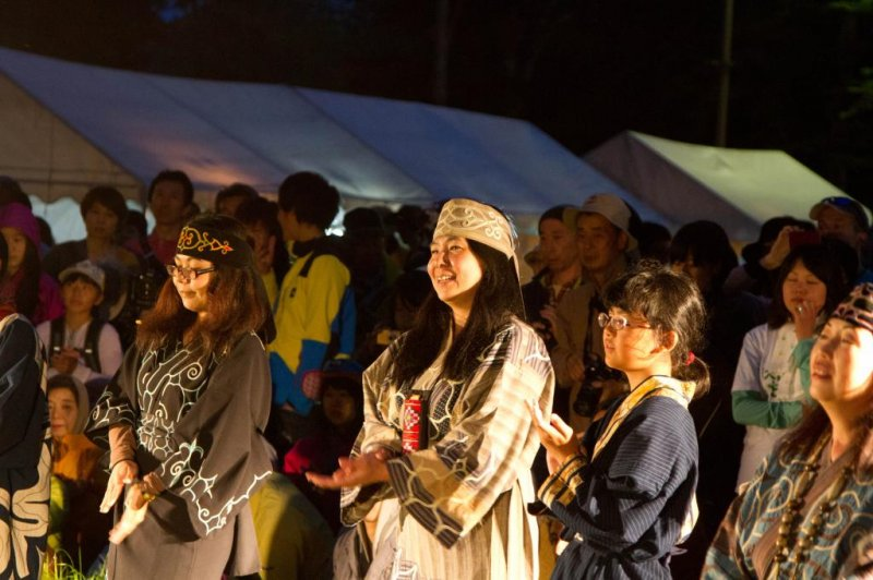 Singing traditional Ainu songs