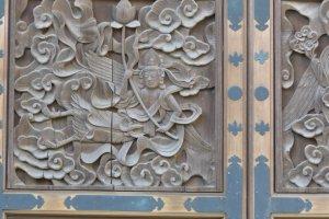 Unique carving in Juto Oido