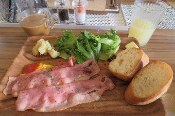 Breakfast at the hotel restaurant