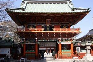 La porte d'entrée du sanctuaire Kanda Myojin