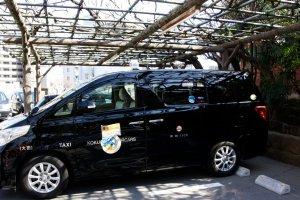Taxi en version grande capacité : très confortable !