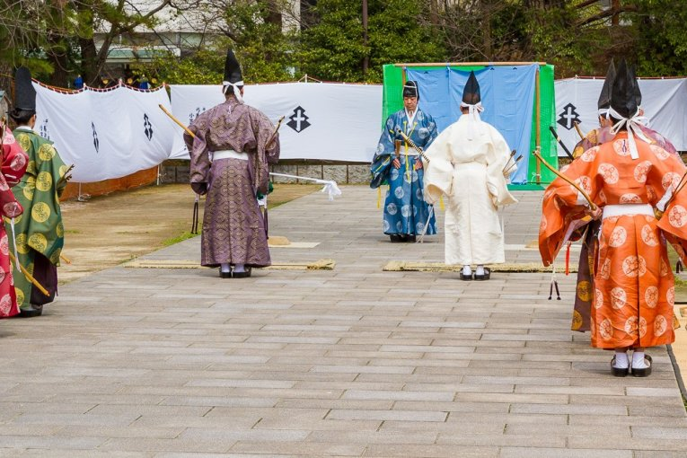 Japanese Archery at Kokura Castle
