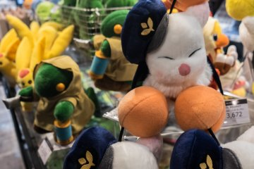 Goods and plush toys from the Final Fantasy series