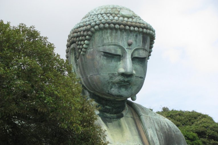 Visiting Great Buddha in Kamakura