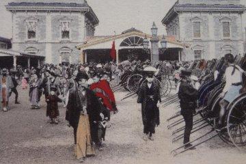 Shimbashi Station in around 1872