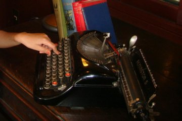 Typewriter room on the second floor