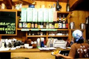 The Barakku Bistro and Izakaya in Aharen Tokashiki-son Island Okinawa has a fun cozy atmosphere and has a menu in English and Japanese