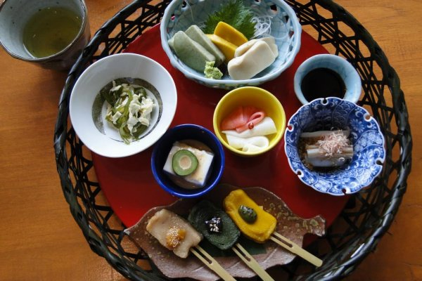 The miso dengaku lunch set at Show