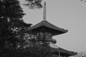 <p>Верхушка Хейва но Датоу (Пагода Мира) в Наритасан</p>