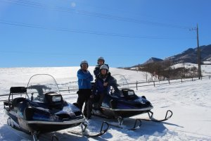 Snowmobiling at Ozasa Farm