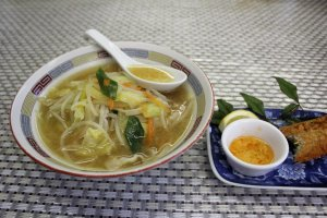 Chanpon ramen and jakoten katsu at Eagle restaurant