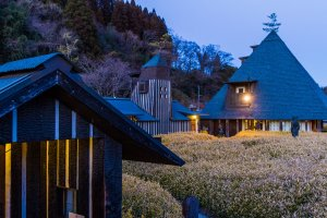 Ramune Onsen's bathhouse has an aura of fantasy