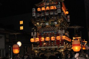 Fall Festival Floats in the Night Parade in Takayama