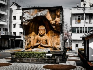Even before reaching the valley's Stone Buddhas you are given a taste of things to come as you step outside the station