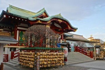 Kameido Shrine during the day
