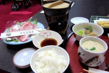 Традиционный ужин в рёкане