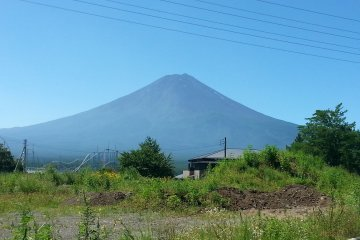 The symmetrical mountain in summer