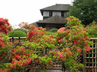 The view to Kobuntei from the garden