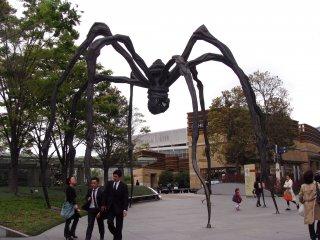 Huge sculpture of a spider