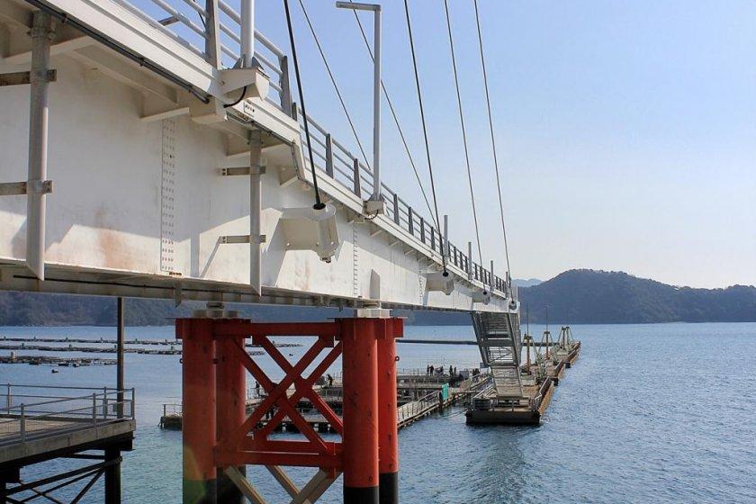 The bridge to nowhere at Sea Road Yawatahama