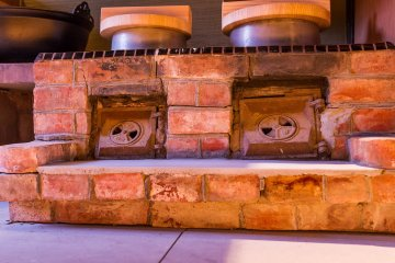 These antique stoves remain to add ambiance