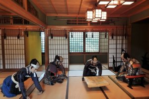 Murakami clan leaders in a meeting