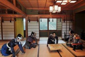 Murakami clan leaders in a meeting