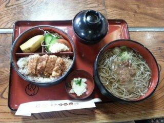 Set meal with pork katsu