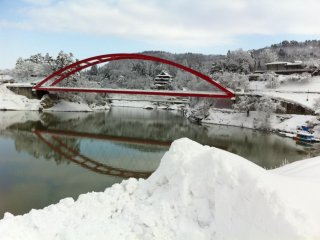 Yan-aizu in winter.