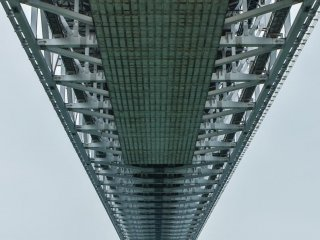 Standing beneath the bridge, one gets a feel for just how massive it is