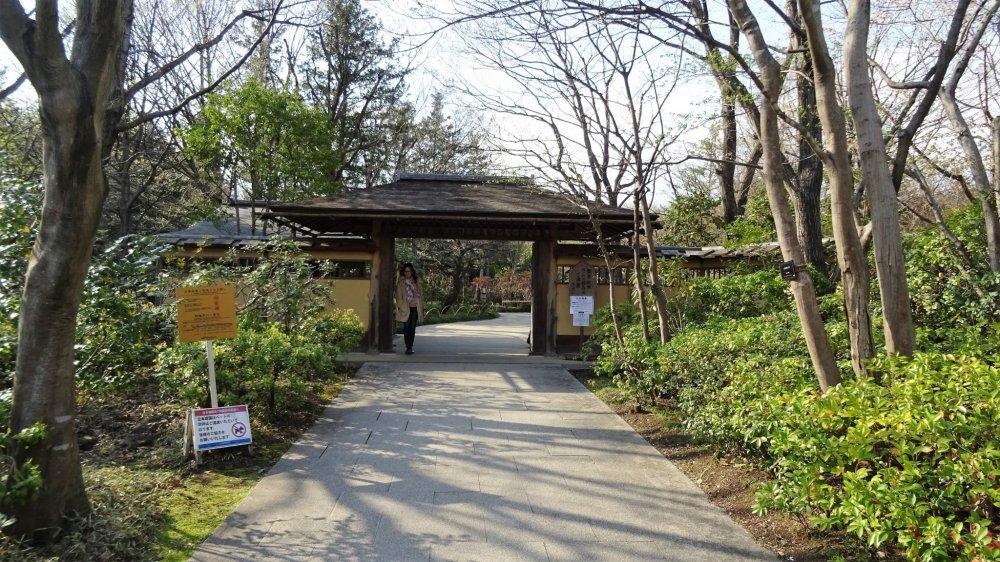 ประตูทางเข้าสวนญี่ปุ่นแห่งสวน Showa Memorial Park