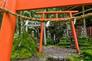 Funatama-jinja, just one of numerous shrines pilgrims rested and gave worship at on their journey.