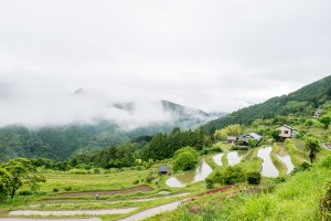 Takahara, the first village walkers of the Nakahechi route from Takijiri-oji will encounter on their hike.