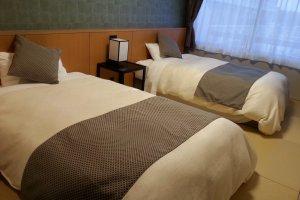 Two huge comfortable beds