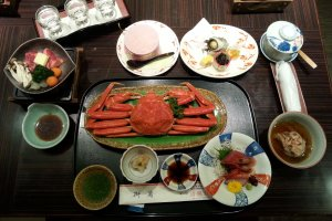 Traditional Japanese-styled dinner