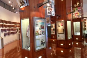 Second floor showcases