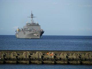 Большой корабль в Ито