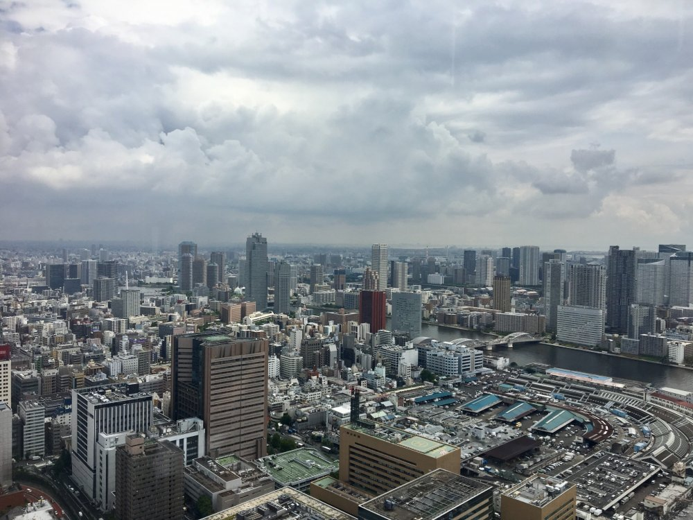 City view from the restaurant, Kia Ora Steakhouse