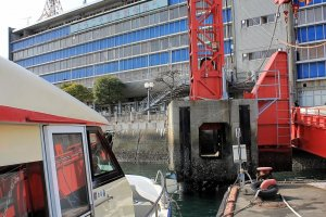 Pemandangan yang terlihat saat tiba di Terminal Kapal Feri Imabari
