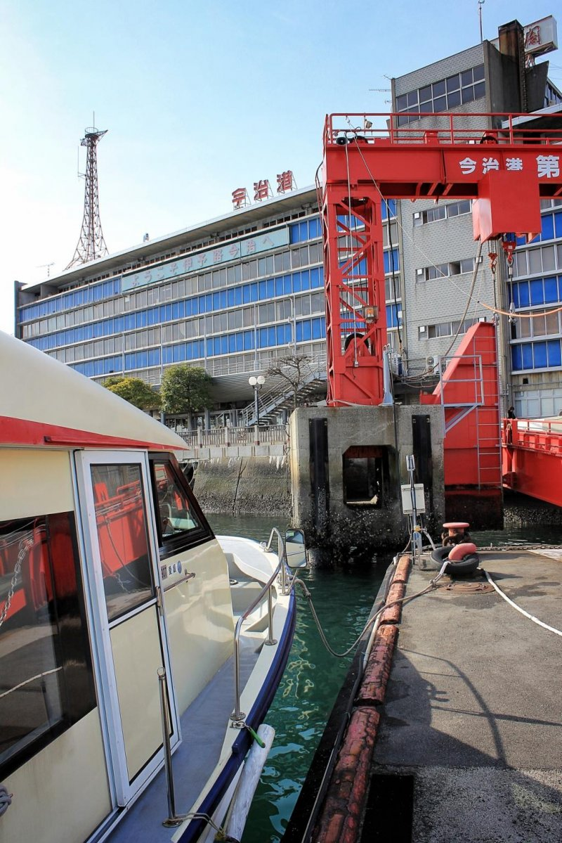 The scene on arrival at Imabari Ferry Terminal