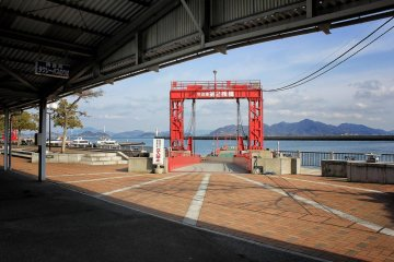 View of the island chain linked by the Shimanami Kaido and served by the ferries
