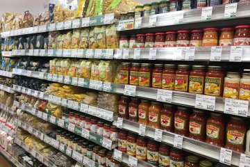 A selection of pasta & pasta sauces