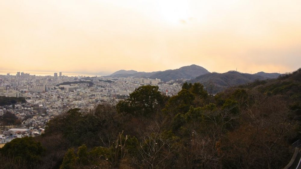 View over to the Himeji side from Venus Bridge