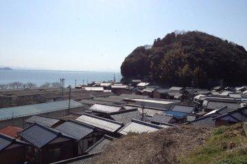 Okishimacho, the small township on Okishima, Lake Biwa