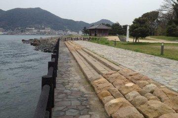 The former beach where Musashi and Kojiro clashed