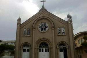 Miyazu Catholic Church from the front
