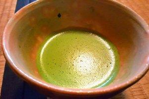 Dégustation du thé matcha